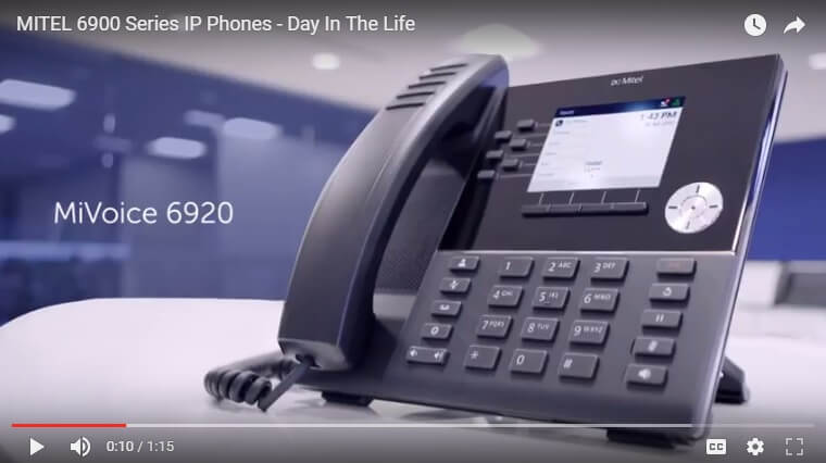 mitel video ip phone day in the life